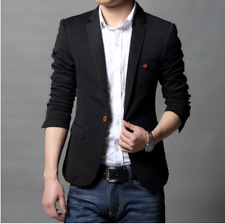 Mens Blazer Jackets Suit Coats Tops Outwear Casual Slim Fit Spring Korean Size
