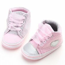 Toddler Infant Baby Boy Girl Soft Sole Crib Shoes Sneaker Size 0-18 Months