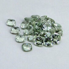 4mm - 8mm Natural Green Amethyst Cushion Faceted Cut Top Quality Loose Gemstone