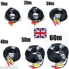 10M-60M BNC Signal Extension Lead Video Power Cable DC Security CCTV Camera DVR