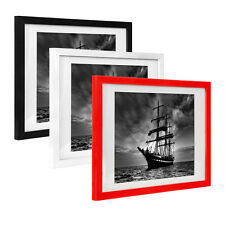Wall Wood Photo Frames Pictures Frame 12x16 Without Mat 11x13 With Mat