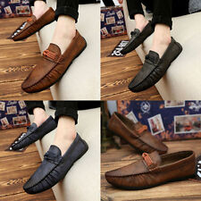 Hotsale Mens Summer Soft Casual Leather Loafers Slip On Moccasin Driving Shoes