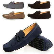 Mens Comfy Classic Moccasin Loafer Slip on Suede Leather Boats Driving Shoes