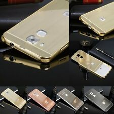 Luxury Brushed Aluminum Metal Frame Phone Case Back Cover For Huawei Nova Plus