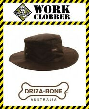 Diza-Bone (Drizabone) Traditional Oilskin Slouch Hat Brown NEW WITH TAGS!