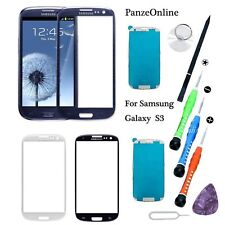 Front Outer Screen Glass Lens Replacement Repair Kit For Samsung Galaxy S3 AT&T