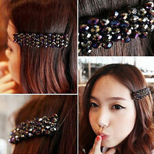 High quality Girls Bling Headwear Crystal Rhinestone Hair Clip Barrette Hairpin
