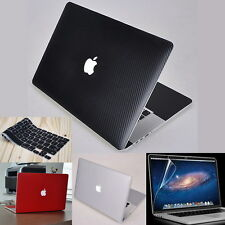 Surface 3D Carbon Fiber Skin Cover Case Guard Protector for Apple MacBook Laptop