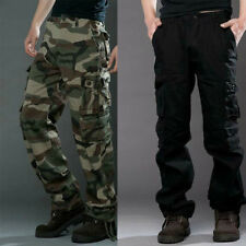 Mens Casual Military Army Cargo Loose Pants Camo Combat Work Pants Trousers Hot