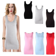 USA- Womens Casual Basic Simple Tank Tops Vest Blouse T-Shirt Camisole Singlet