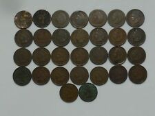 Indian Head Cent Estate Collection: Lot of 30 1858-1909, Antique U.S. Pennies