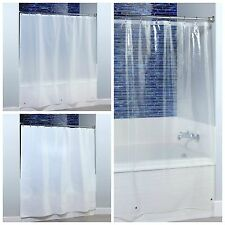"""70"""" x 72"""" Heavyweight PEVA Shower Curtain Liner with Microban - 3 Colors!"""