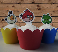 Angry Birds edible wafer  Cupcake Cake Toppers Birthday