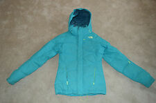North Face Turquoise Blue Down Ski Quilted Down Jacket Coat Womens XS / UK 6