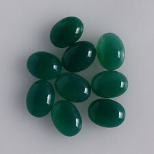 5x3MM Rich Green Onyx Oval Shape, Calibrated Cabochons AG-205
