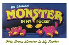 Monster in my Pocket - Series 1 - Mini Figure MIMP Matchbox MEG - Olive Green