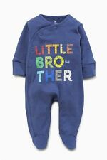 BNWT Baby Boys Little Brother Sleepsuits 0-3,3-6,9-12,12-18 months **NEXT**