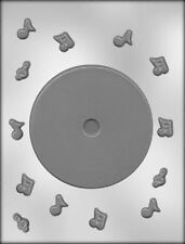 COMPACT DISK CD With Music Notes Chocolate Candy Mold - Band, Choir, Clef, Party