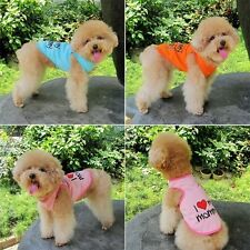 """Small Cat Dog Cute Vest Puppy Pet Clothes Apparel ' I Love My daddy """" T-Shirt"""