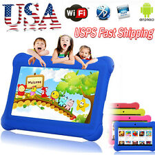 "7"" Kids Tablet PC Android 4.4 Case Bundle Dual Camera 1.2Ghz Wifi Bonus Item LOT"