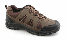 Mens New Brown Trek Trail Walking Hiking Lace Up Shoes 6 7 8 9 10 11 12