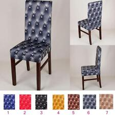 Removable Elastic Stretch Slipcover Short Dining Room Chair Protector Seat Cover