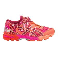 Asics Gel Noosa Tri-11 JUNIOR GIRL'S RUNNING SHOES,ORANGE/PINK-Size US 1, 2 Or 3
