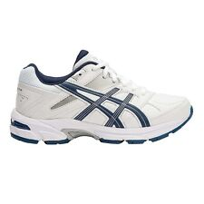 Asics Gel 190TR LEATHER JUNIOR CROSS TRAINING SHOES,NAVY/SILVER-Size US 4,5 Or 6