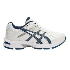 Asics Gel 190TR LEATHER JUNIOR CROSS TRAINING SHOES, NAVY/SILVER- US 7, 12 Or 13
