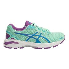 Asics GT 1000-5 GIRL'S RUNNING SHOES, GREEN/BLUE/PURPLE*JP Brand- Size US 6 Or 7