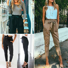 Women Casual Skinny Long Jeans Pants High Waist Stretch Slim Pencil Trousers