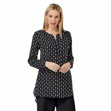 Principles Petite By Ben De Lisi Womens Navy Diamond Print Petite Shirt