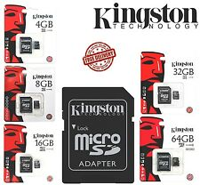 GENUINE KINGSTON 4/8/16/32/64 GB MICRO SD CARD Flash Card 45MB/s,