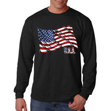 Patriotic USA American Flag United States 4th Of July Long Sleeve T-Shirt