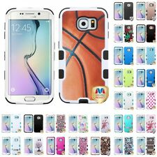 For Samsung Galaxy S6 Edge Phone Hybrid TUFF IMPACT Phone Case Hard Rugged Cover