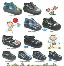 BABY BOYS CANVAS SHOES / TODDLER SLIPPERS SANDALS TRAINERS ALL UK KIDS SIZES