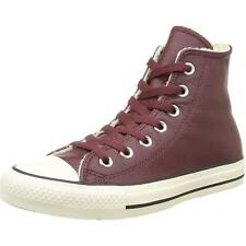 Converse Chuck Taylor All Star Shearling Deep Bordeaux Leather Ankle Boots