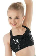 Dance Costume Large Child Sequin Bra Top Black Solo Competition Pageant Glitz