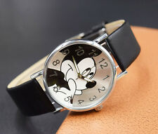 Cartoon Quartz Wristwatch Children Hot Sale Leather Watch Mickey Mouse fashion