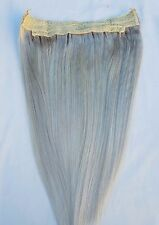 "18"" 20"" 100% Human Hair Extensions,100 Grams, Halo Style (ONE PIECE)# Ash Blonde"
