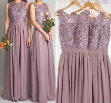 STOCK Lace/Chiffon Bridesmaid Dress Formal Wedding Party Evening Prom Ball Gowns