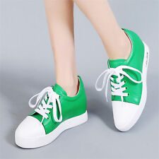 Womens Shoes Cow Leather Fashion Sneakers Wedge Ankle Boots Oxfords Casual Shoes