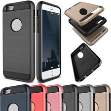 Slim Brushed Shockproof Hybrid Rubber Fashion Hard Case Cover For iPhone