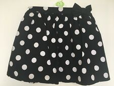 BNWOT Next Black & White Spotty Skirt. Girls. Age 12 months to 3 Years