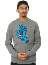 Santa Cruz Dark Heather Screaming Hand Crew Sweater