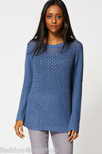 WOMENS LADIES JUMPERS KNITWEAR Long Sleeves Relaxed Fit Fine Knit Jumper RRP £30