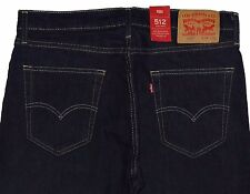 Levis 512 Slim Tapered Fit Jeans 34 x 30 Dark Hollow #0025 New Tags Free Ship