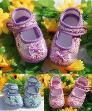 Shoes NEW Sole Infant Baby Crib Flower Dot PU Leather Shoes Toddler 0-18M Soft
