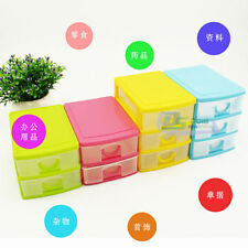 2/3 Drawers Desktop Storage Box Jewelry Beads Organizer Container Cabinets Case