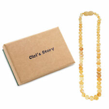 Raw Baltic Teething Necklace for Baby (Butterscotch Raw) - 3 Sizes